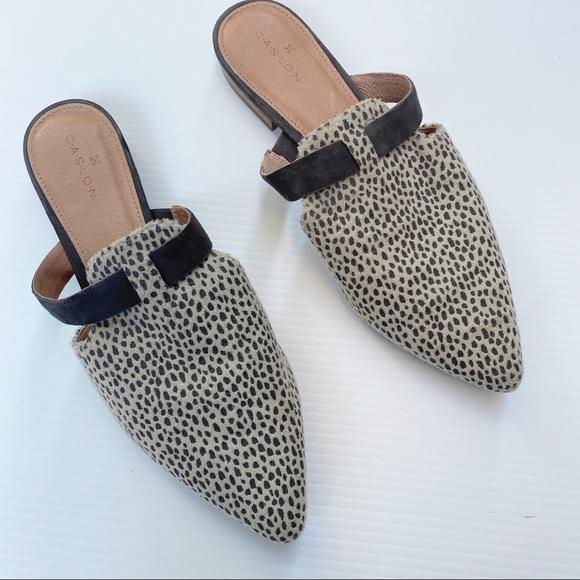 Caslon- James Taupe Cheetah Print Mules- 7